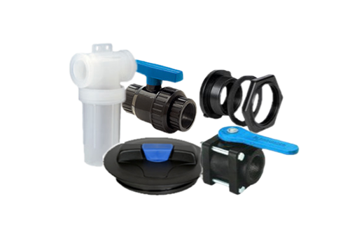 Valves, Couplers, Fittings & Lids